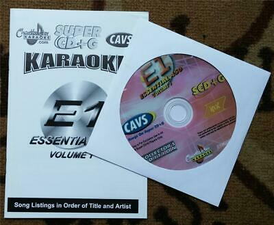 Chartbuster Super Cd+G Essentials Karaoke Scdg E1,450 Songs, Cavs Country,Oldies