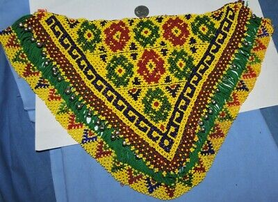 t61 hand beaded triangle vintage tribal kuchi banjara lovely large hand beaded t
