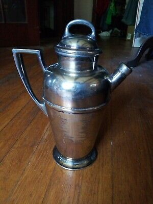 COOL! Antique TABER & TIBBETS Silver Co. SilverPlate COCKTAIL MIXER Drink Shaker