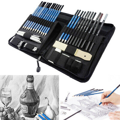 40pcs Drawing Sketch Set Charcoal Pencil Eraser Art Craft Painting Sketching Kit