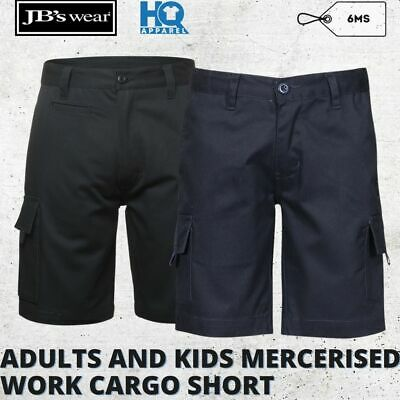 Jbs Adults And Kids Multi Pocket Cotton Drill Work Cargo Upf 50+ Short 6Ms