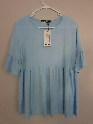 Boohoo Maternity Blue Top New With Tags 12