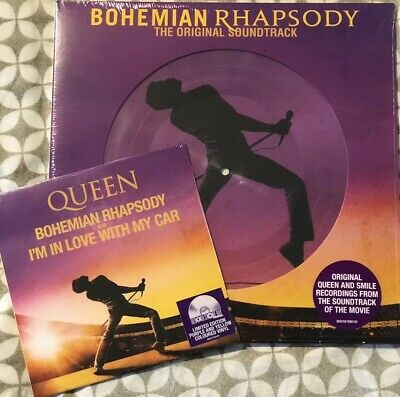 """Queen Bohemian Rhapsody 2 Picture Disc + 7"""" Purple&Yellow Record Store Day 2019"""