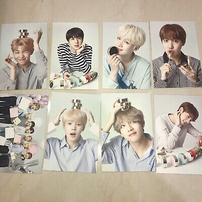 BTS Official Photocard Postcard VT cosmetics message printed