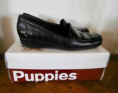 Women's Hush Puppies black Meadow wedges size 7