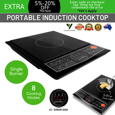 Portable Electric Induction Cook Top Ceramic Cooker Kitchen Burner Hot Plate