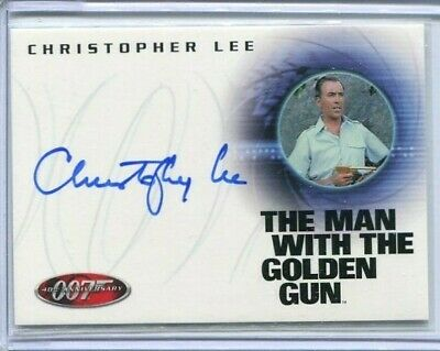 JAMES BOND 40th - Christopher Lee - Scaramanga - official trading card auto A9