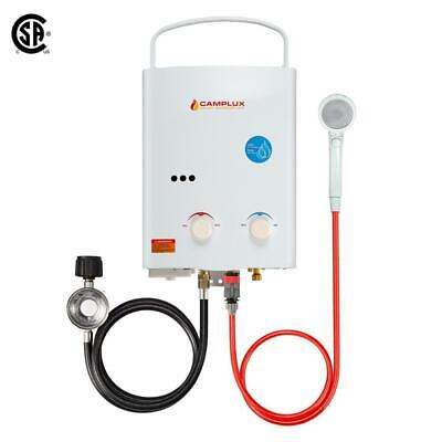 Camplux 5L 1.32 GPM Outdoor Portable Tankless Water Heater Dry Combustion Protec