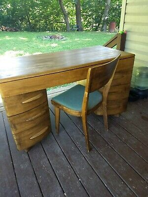 1949 Heywood Wakefield Crescendo Desk And Chair Set