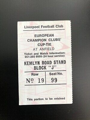 LIVERPOOL v AZ67 Alkmaar.  ORIGINAL TICKET EUROPEAN CUP - 4-11-81