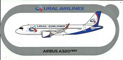 NOUVEAU A320neo URAL AIRLINES RUSSIA STICKER AUTOCOLLANT AIRBUS - NEW