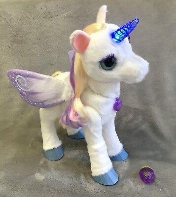 Furreal Friends Starlily My Magical Unicorn Interactive Talking Berry Pet Light