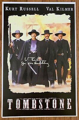 Val Kilmer Signed Tombstone Doc Holliday 11x17 Movie Poster Certificate HOLO