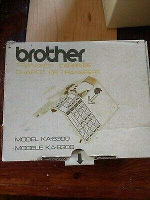 Brother transfer carriage KA 8300 for brother knitting machine