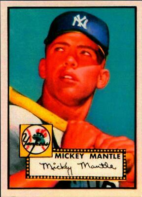 1952 Topps Mickey Mantle 311 Rookie Reprint Cardyankees