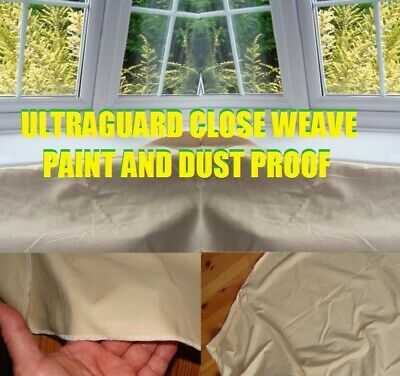 5 x NEW PROFESSIONAL COTTON DUST SHEETS PAINTING DECORATING ( 12/6- 5 PACK )