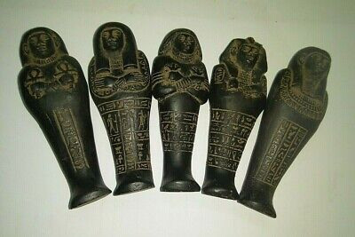 5 Rare Ancient Egyptian Antique Ushabti 1750-1561 Bc