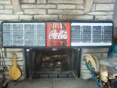 L@@K New 6ft Coca-Cola Menu Board Sign w/4 sets of coke letters & numbers!