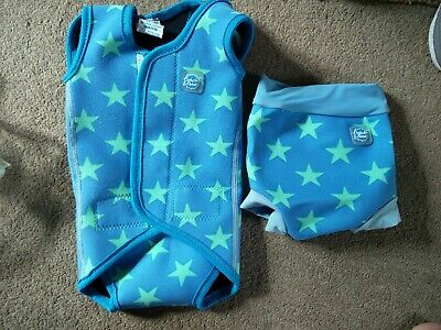 Splash About Happy Nappy And Wrap Around - Small. Stars. 0-6months.