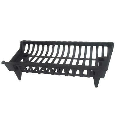"27"" Cast Iron Fireplace Grate Durable Firewood Fire Pit Wood Burning Heavy Duty"