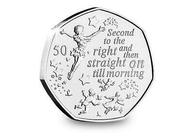 2019 Isle of Man Lost Boys Flying - Peter Pan 50p coin - Uncirculated