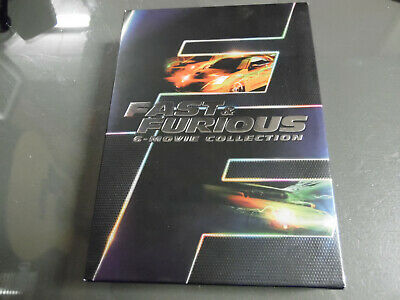 Fast Furious: 6 Movie Collection (DVD, 2014, 6-Disc Set) 1,2,3,4,5