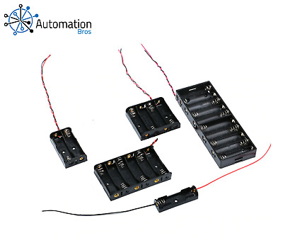 AA Size Power Battery Holder with Leads (1, 2, 4, 6, or 8 Slots)