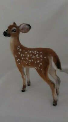 OOAK Needle felted Deer Fawn animal wool soft sculpture by Tatiana Trot