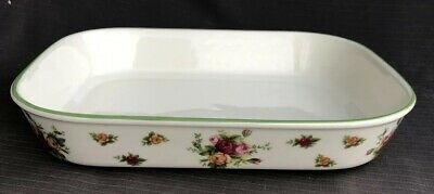 ROYAL ALBERT OLD COUNTRY ROSE Large Casserole Dish 31 X 24 Cm