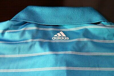 EUC Mens Adidas puremotion SS Golf Shirt, Light Blue, Size M