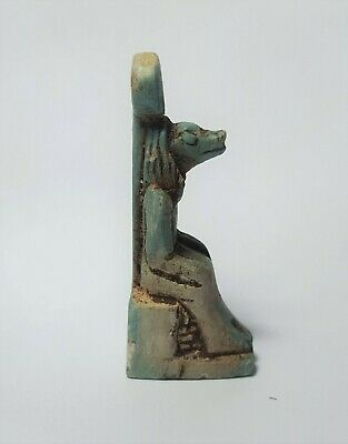 Egyptian Steatite Stone Carved Anubis Amulet