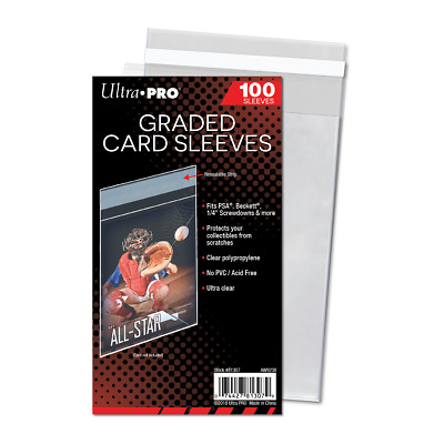 200 Ultra Pro Resealable Graded Card Sleeves #81307