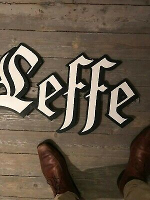 Leffe reclame wood beer sign not new