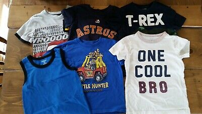 Lot of 6 boys size 4t tshirts play condition