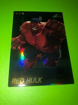 Marvel Contest of Champions #54 Red Hulk Card- RARE FOIL- Dave and Busters