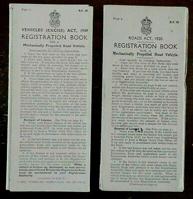 Vintage, Registration Books for Farm Machinery, x 2, 1940s, Mechanically Propel