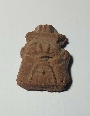 Egyptian Nile Clay Bes Amulet