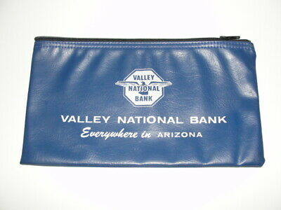 "VTG VALLEY NATIONAL BANK ARIZONA Money Bank Bag Zipper Deposit 10 3/4"" A x 6"""