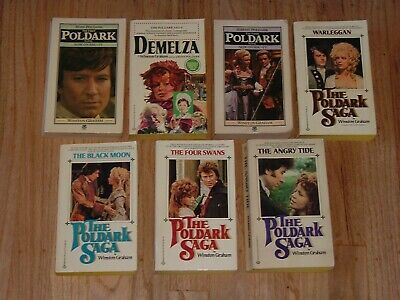 The Poldark Saga by Winston Graham Vintage Paperback Books 1,2,3,4,5,6,7
