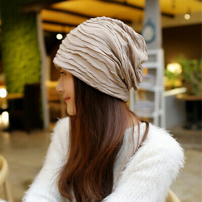 Women Girls New Knitted Hat Casual Slouchy Cap Soft Baggy Beanies Hat JJ
