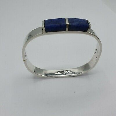 eleganter Armreif aus Sterling Silber 925 punziert mit Lapis Mexico Sterling