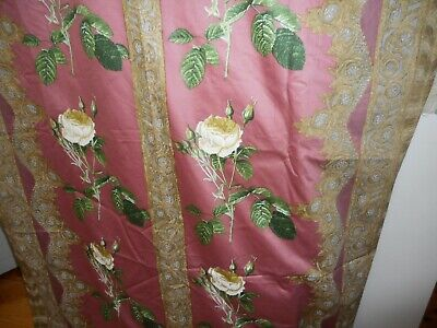 Antique vintage cotton sateen meterage from the 1930's