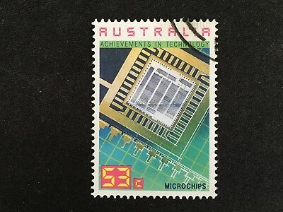 1987 Australian Achievements In Technology 53C Microchips Stamp - Fine Used