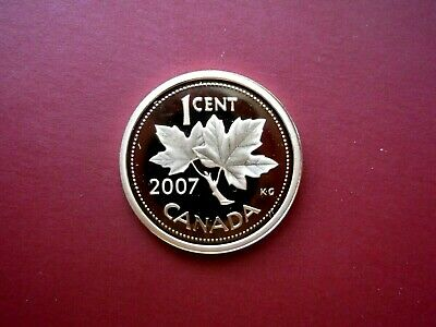 2007 Canada 1 Cent Heavy Cameo Non Magnetic Proof Penny