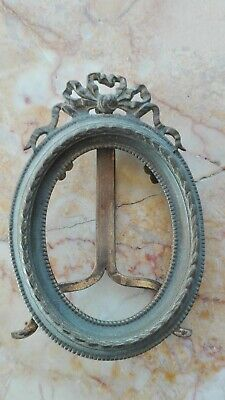 French Antique Ormolu Bronze Miniature Picture Frame France Paris