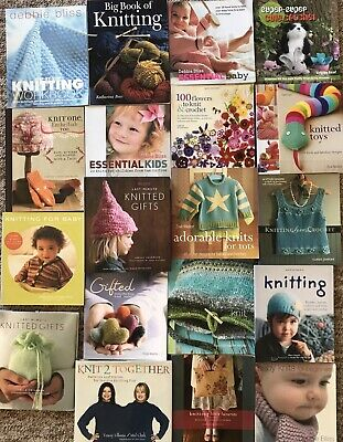 Knitting, crochet and sewing pattern books. Including Debbie Bliss!