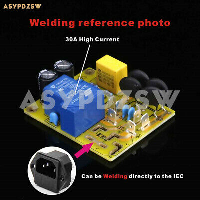 High power soft start board 30A 250VAC anti-shock protection directly weld IEC