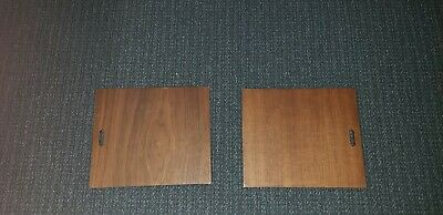 Herman Miller George Nelson CSS walnut sliding door open hole pull pair matched