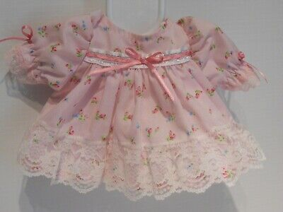 New My Child Dolls Dress & Pants in pastel Pink Floral fabric