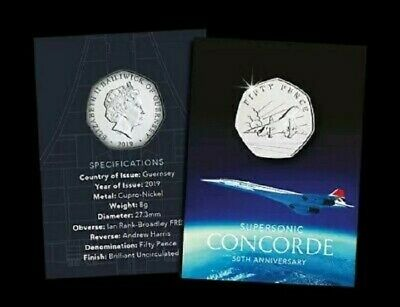 **LAST FEW**SOLD OUT AT MINT**2019 50th Anniversary of Concorde 50p BU Coin Pack